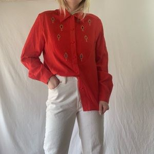 Vintage Elegance Long Sleeve Buttondown
